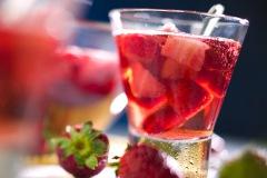 Getränke, Früchte, Sekt, Wein