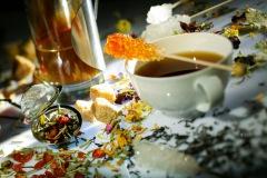Schwarzer Tee und Wintermischung